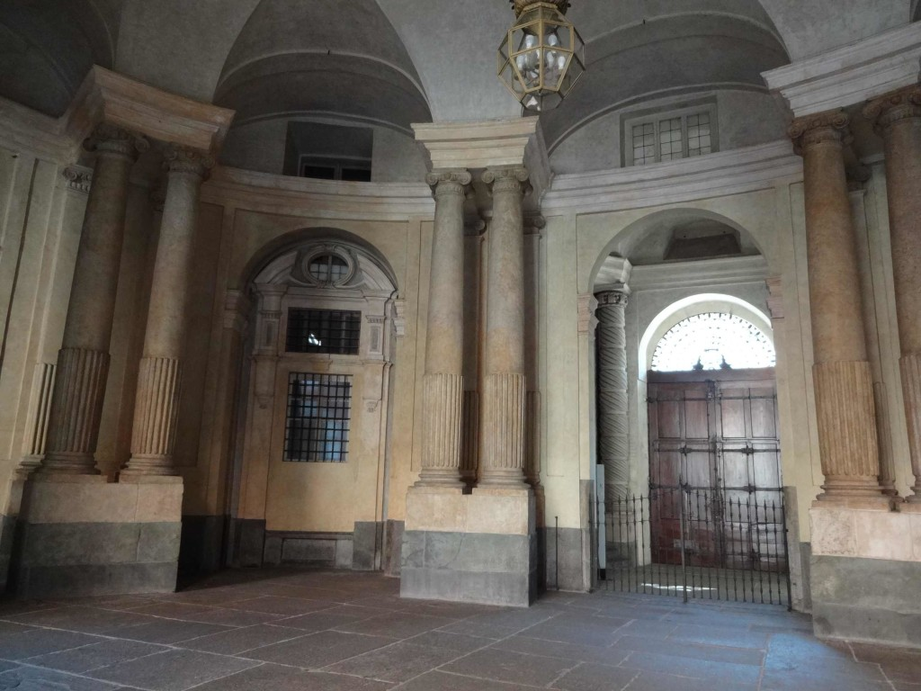 Inside the Palazzo Carignano where Croker's gang loaded the gold onto the waiting Mini Coopers