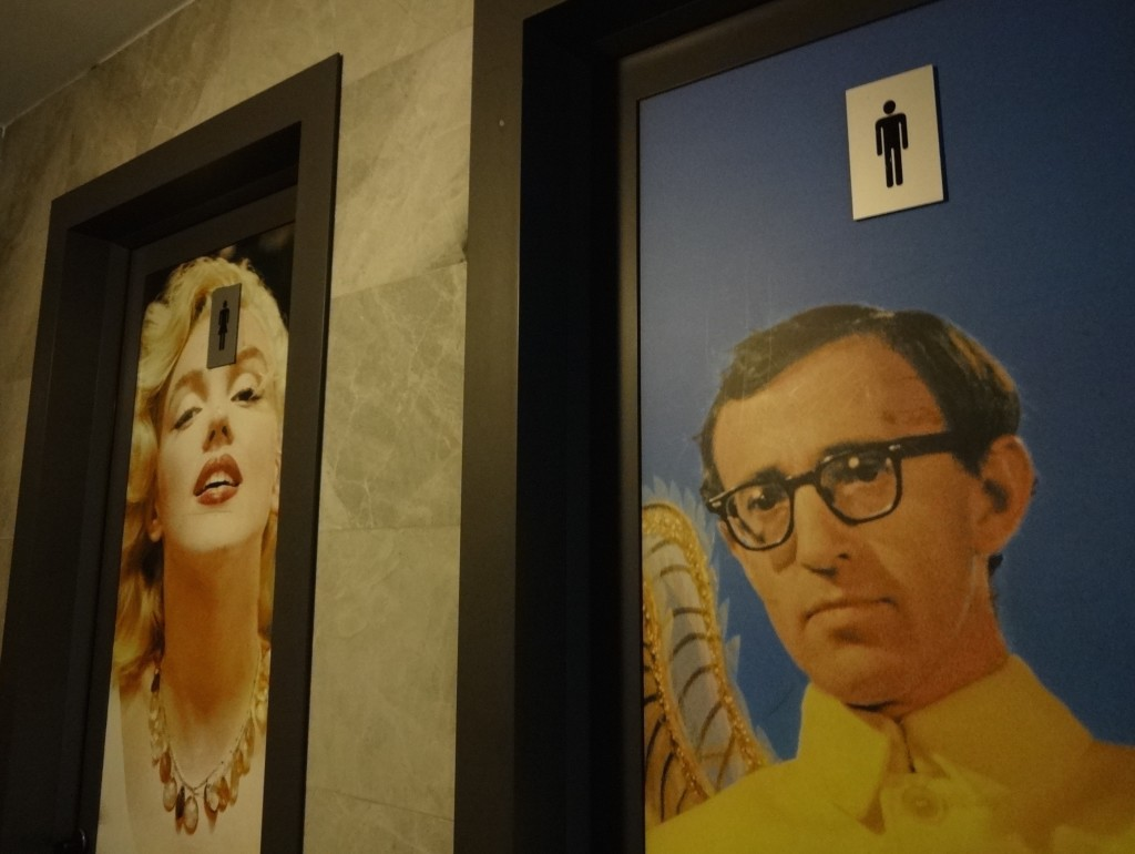 Turin Mole Antonelliana Marilyn Monroe and Woody Allen toilet doors