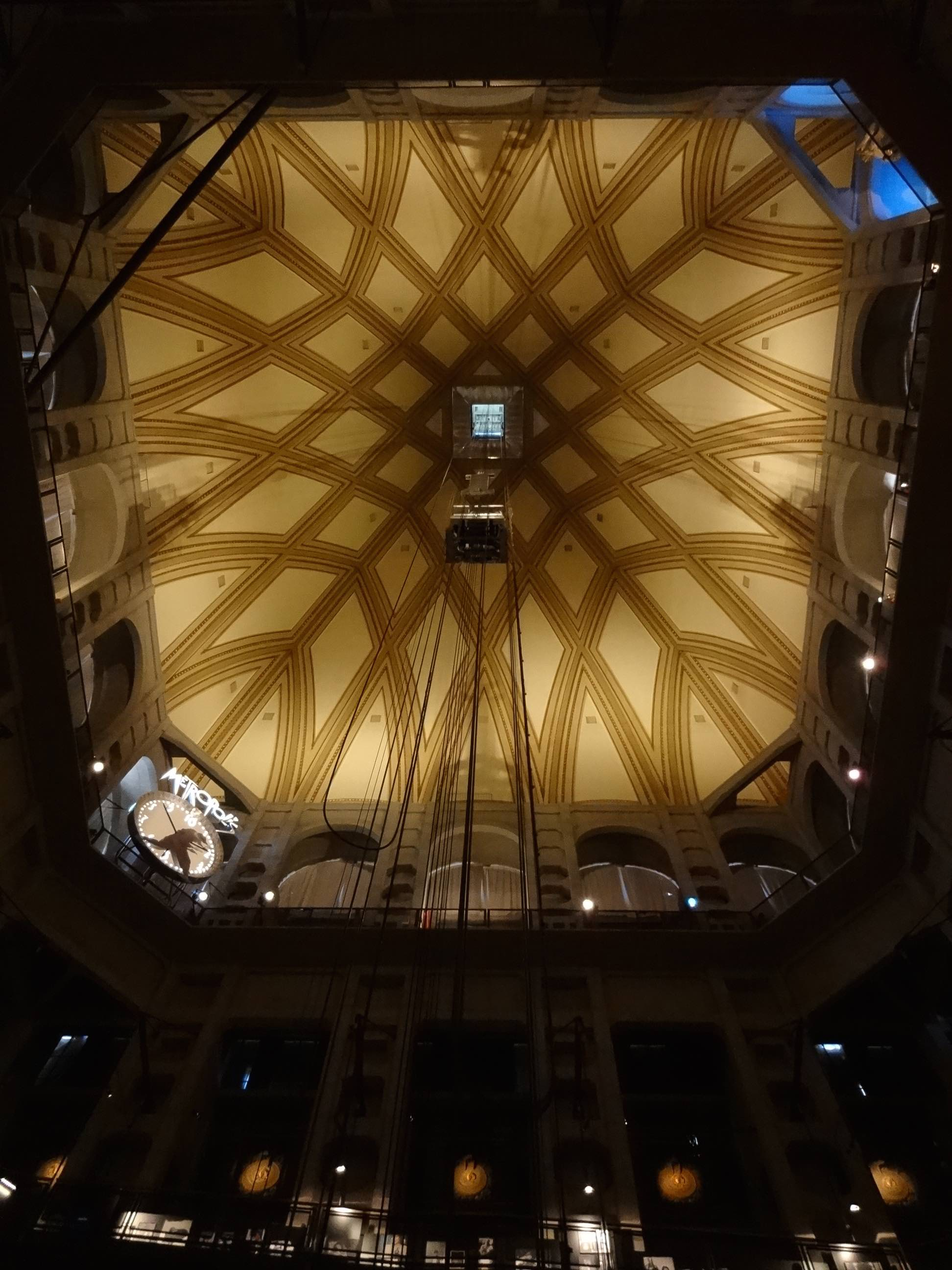 Turin Mole Antonelliana Interior Looking Up At Dome The