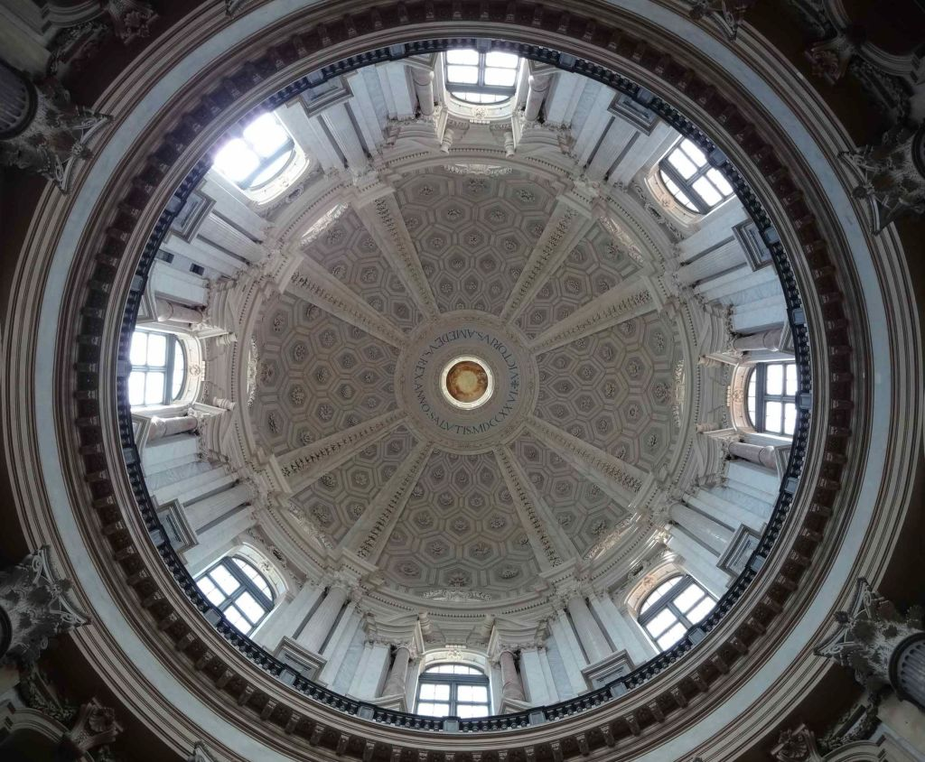 Looking up at the dome