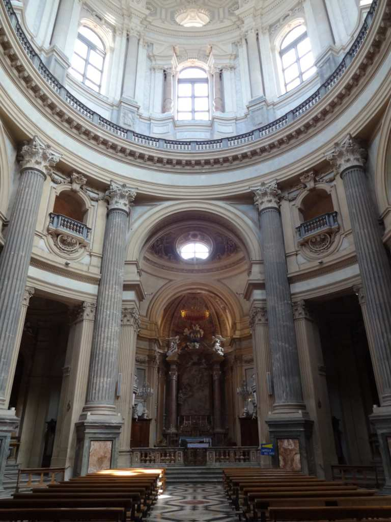 The stunning altar and interior of the Basilica di Superga