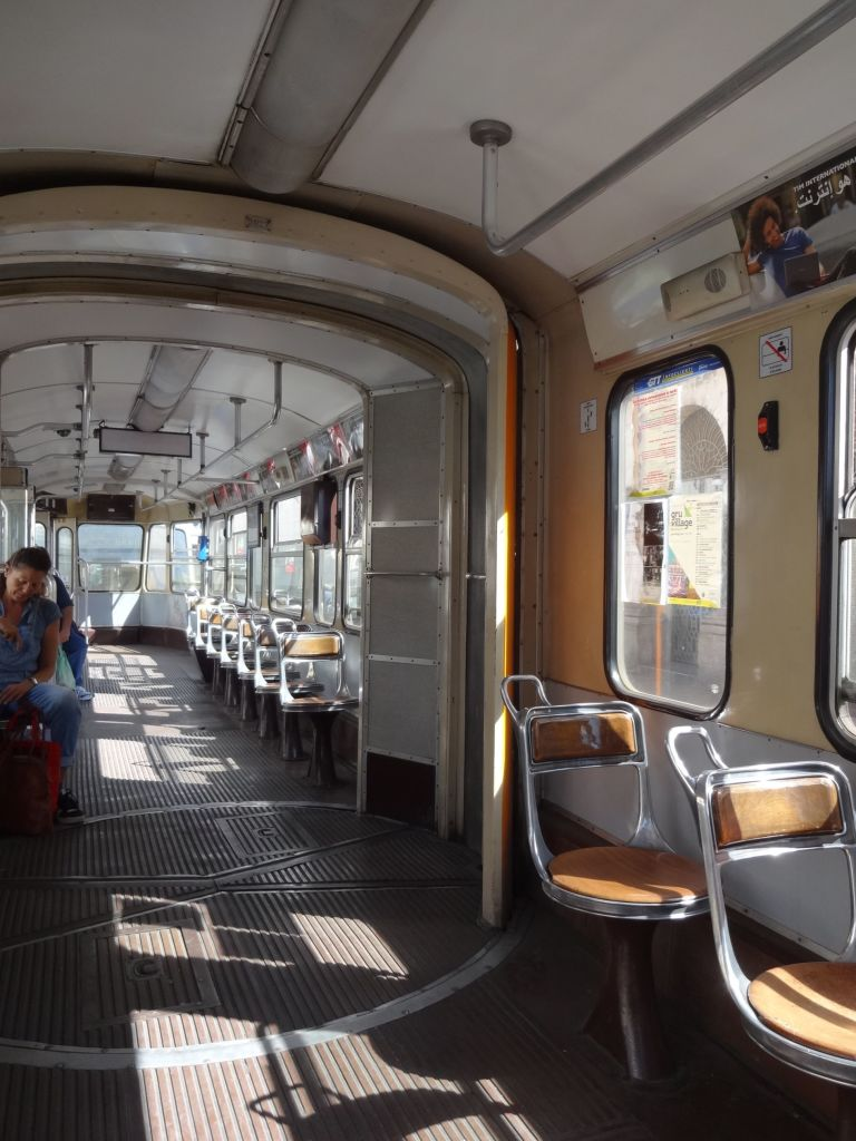 A typical Turinese tram interior. Simply charming (and clean!)