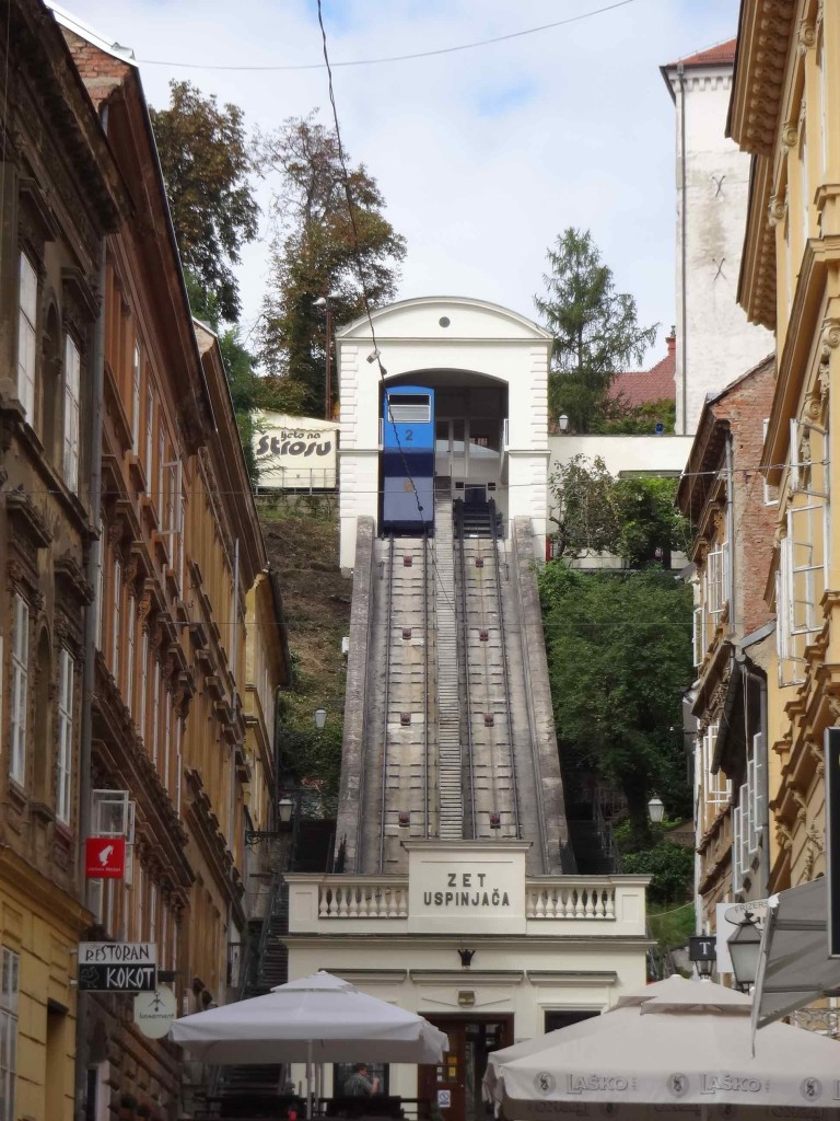 The delightful Zagreb Funicular, transporting passengers up and down Grodji Grad since 1893