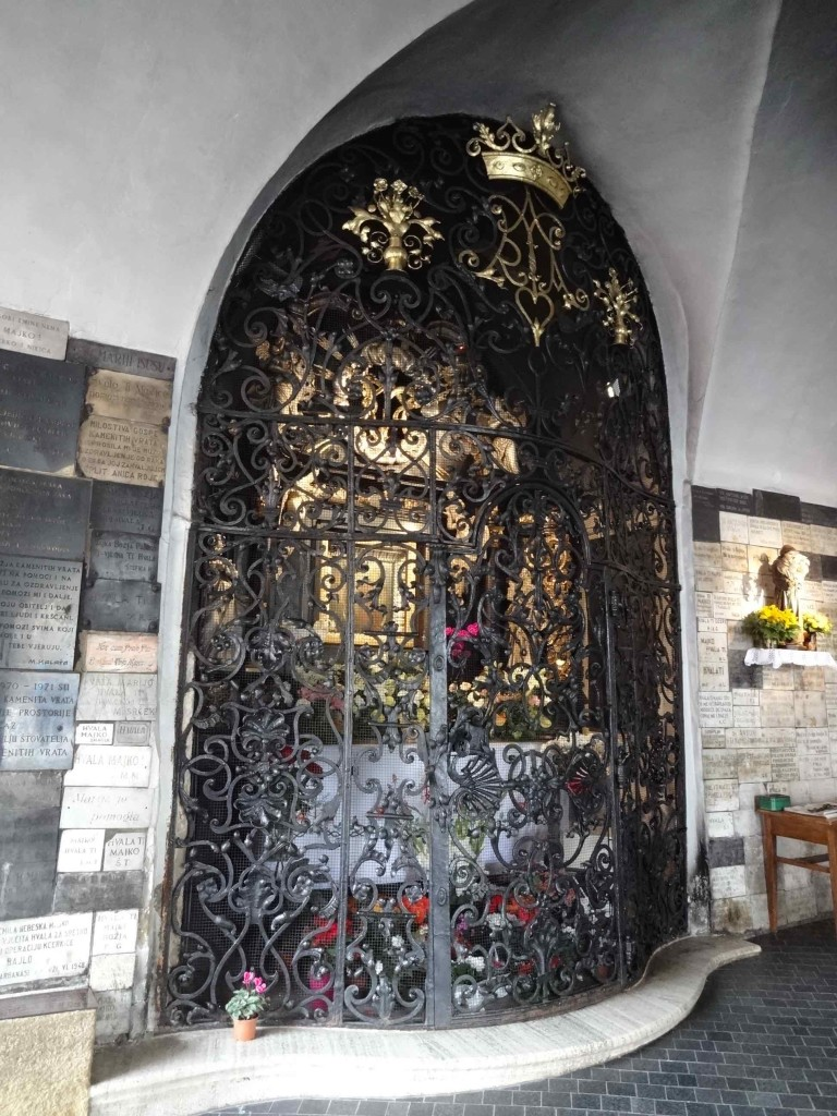 Zagreb Croatia, things to see and do in Zagreb, Stone Gate shrine close up