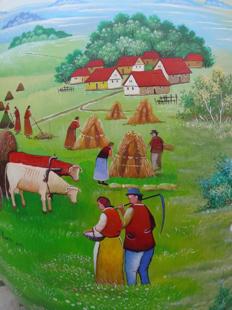 Zagreb Croatia, what to see and do in Zagreb, Easter Egg from the Heart, Croatian Naive Art, Martin and Stjepan Dukin, Vladimir Ivancan, Dragutin Kovacic, Drago Zufika, Podravina, Cirilmetodska, close up farmers
