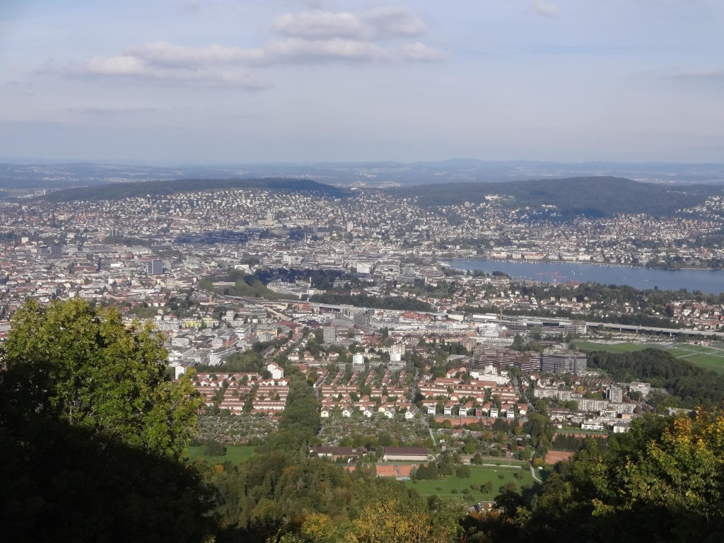 ... where one can enjoy some stunning views over central Zurich from the top of it