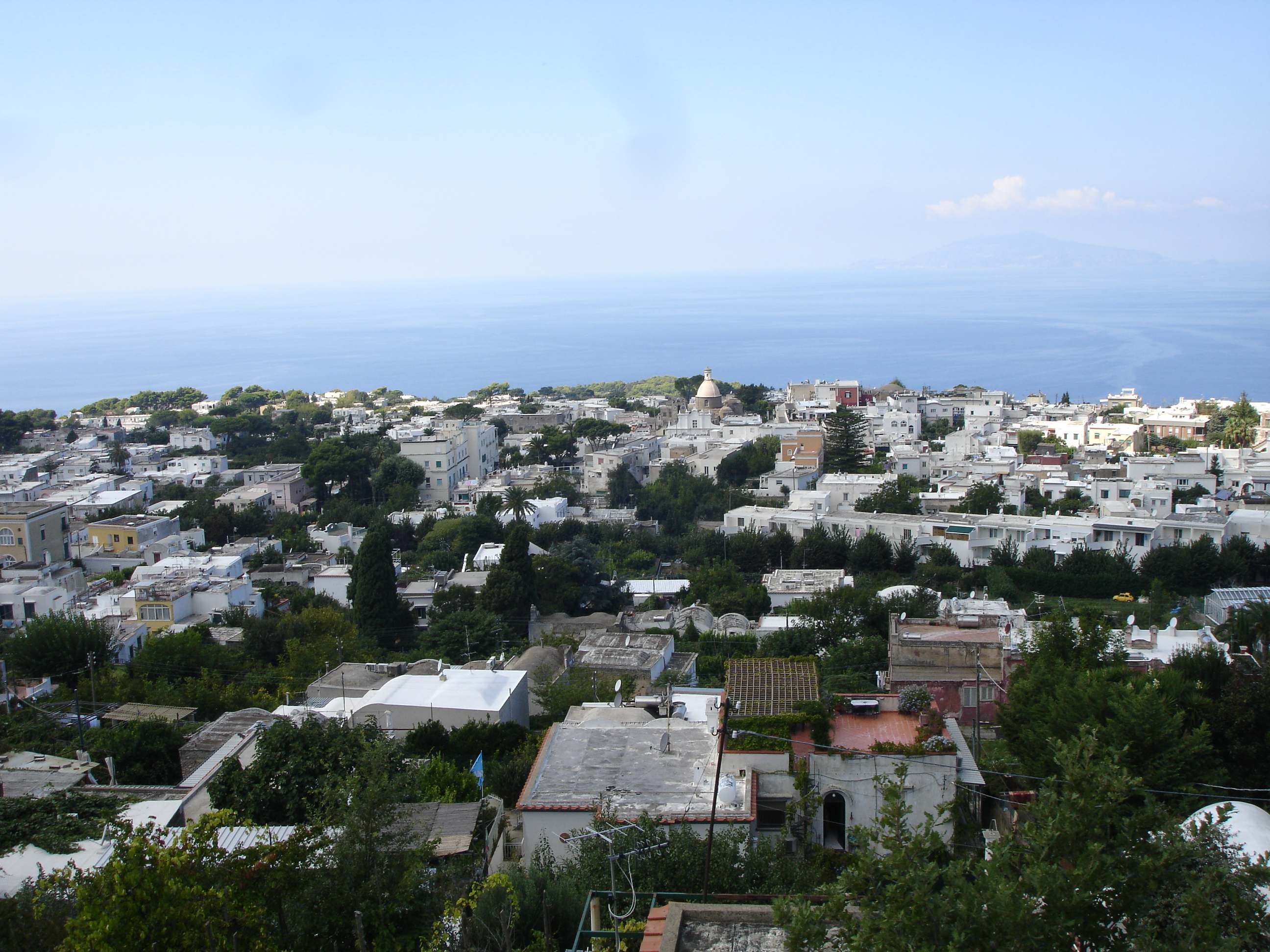 capri anacapri view from chairlift the lady travels