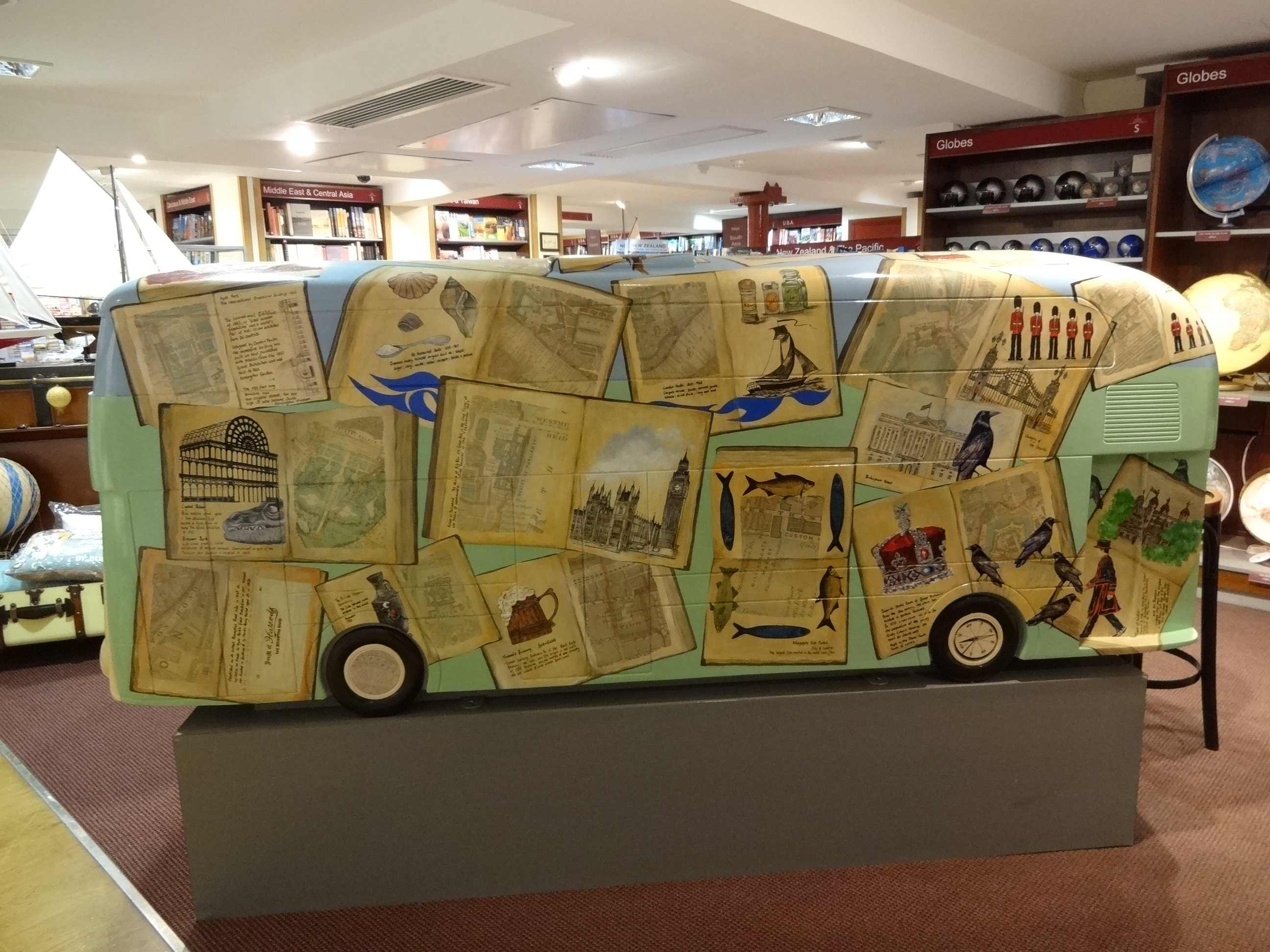 Routemaster 60 Year of the Bus sculpture Westminster trail TfL Wild ...